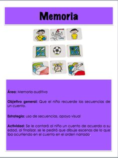 Actividad para trabajar la memoria auditiva