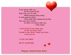 valentine's day poem for parents from child