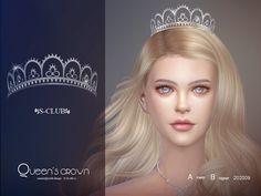 S-Club LL ts4 Hair Accessories 202009 Die Sims, Sims Cc, Queen Crown, Crown Royal, Cc Hats, Sims 4 Collections, Club Hairstyles, Sims Hair, Sims 4 Cc Finds