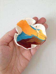 Southwestern Santa Fe inspired handpainted polymer by sweetstellas, $30.00