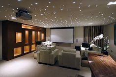 Converting a basement into a home cinema