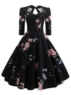 Floral Print Knot Dress - Outfits - Welcome Haar Design Elegant Dresses, Pretty Dresses, Vintage Dresses, Beautiful Dresses, Casual Dresses, Formal Dresses, Wedding Dresses, Awesome Dresses, Casual Outfits