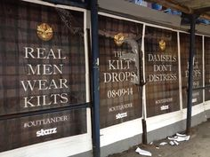 """Great slogans on these #Outlander posters. My favorite: """"Damsels don't distress"""" @Outlander_Starz pic.twitter.com/xLoY5IpiRk"""