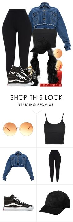 """Black Bird"" by melaninpopping ❤ liked on Polyvore featuring ASOS, Topshop and Vans"