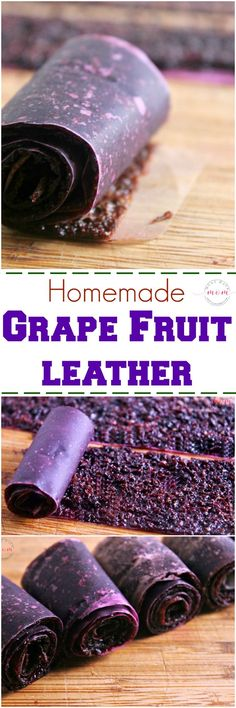 Homemade grape fruit leather recipe - no dehydrator required! Make this grape fruit leather recipe in the oven! Healthy snack idea for kids!
