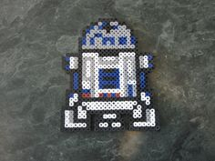 Perler bead R2D2 by rushtalion on deviantart