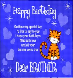 Free Animated Cards for Facebook | Happy Birthday Dear Brother. Free Brother & Sister eCards | 123 ...