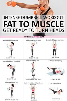?? Rapid Results Dumbbell Workout! Adding Weights Will Turn Fat to Muscle! Get Ready to Turn Heads... - Transform Fitspo
