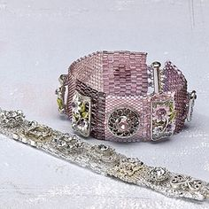 Peyote patches: bracelet, peyote, stitch.  Find more projects on BeadAndButton.com