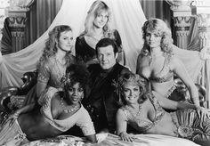 Roger Moore With thee ladies