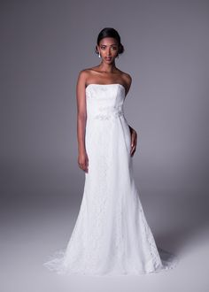 Trumpet/Mermaid Strapless Sweep/Brush Train Lace Fabric Bridal Wedding Dresses With Appliques Style Cheap Wedding Dresses Online, 2015 Wedding Dresses, Wedding Gowns, Lace Wedding, Lace Bride, Online Dress Shopping, Dress For You, One Shoulder Wedding Dress, Fashion Dresses
