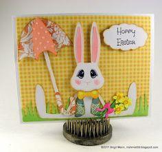 Hoppy Easter, a card from Brigit Mann, adorable!!!!