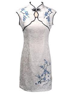 Topwedding Pure Cotton Short Cheongsam with Plum Embroidery,White and Blue,XS Topwedding http://www.amazon.com/dp/B009YSOCVW/ref=cm_sw_r_pi_dp_Xzb-tb04872ZN