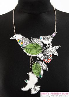 Fashion DIY Tutorial: Necklace with Fabric Birds
