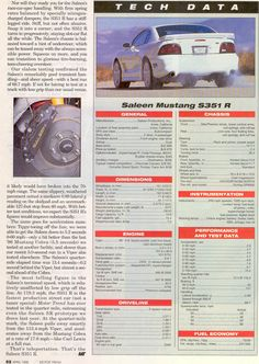 """""""Saleen R"""", Motor Trend, April 1996 Sn95 Mustang, Saleen Mustang, The Old Days, Mustangs, Exotic Cars, 1990s, Race Cars, Pop Culture, Old Things"""