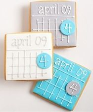 save the date cookie, yummy! {this would be really cute for an engagement party}