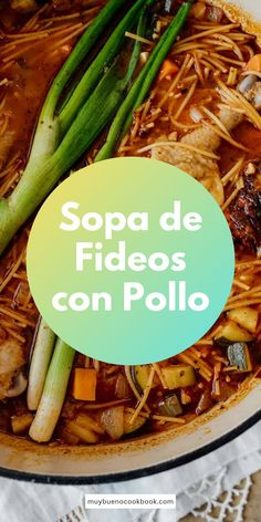 Sopa de Fideos con Pollo, a Mexican version of chicken noodle soup, is a classic family favorite. Served warm and packed with bright springtime flavors, this is the perfect meal for the transition to warmer weather. Bueno Recipes, Protein Pasta, Great Pizza, Good Food, Yummy Food, Chicken Noodle Soup, Delicious Dinner Recipes, Chicken Seasoning, One Pot Meals
