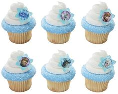 24 Disney Frozen Cupcake Rings by BlingYourCake on Etsy, $7.50