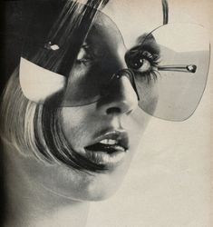A GLANCE TO REMEMBER... eyewear repin by Pollipò Occhiali, Rome. Glasses and sunglasses 100% handmade in Italy /// Vogue, 1969.