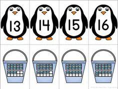 PENGUINS! MATH AND LITERACY ACTIVITIES FOR KINDERGARTEN AND 1ST GRADE - TeachersPayTeachers.com #kindergarten #firstgrade #math #literacy #winter