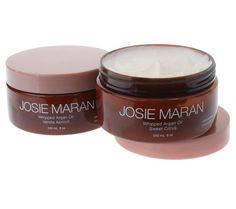 Light text against brown jar.....Looks a bit home-made....but Josie Maran makes this high-end.