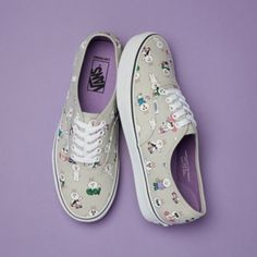 5cf6dd4bf6 LINE FRIENDS X THE VANS Cony Authentic Women Canvas Slip On Shoes US 8~8.5