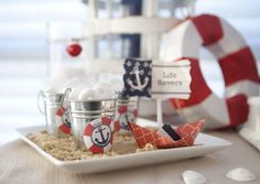 Nautical Baby Shower Party Ideas | Photo 2 of 49