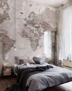 O mundo é bão, Sebastião! Saca só que ideia massa pra sua parede de cabeceira. #inspiração