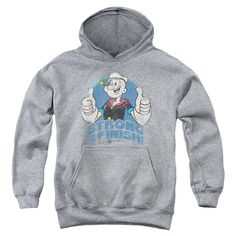 "Checkout our #LicensedGear products FREE SHIPPING + 10% OFF Coupon Code ""Official"" Popeye / To The Finish-youth Pull-over Hoodie - Heather - Popeye / To The Finish-youth Pull-over Hoodie - Heather - Price: $49.99. Buy now at https://officiallylicensedgear.com/popeye-to-the-finish-youth-pull-over-hoodie-heather"