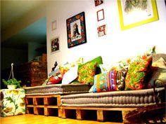 ~ Uma Linda Promessa ~: DIY: Faça um sofá usando pallets