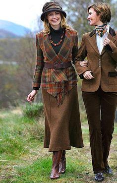 Long Fluted Tweed Skirt  Tweed jacket