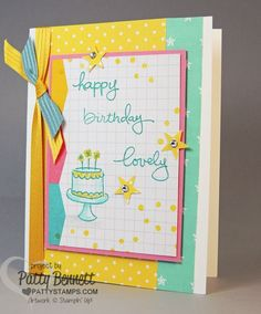 Endless Birthday Wishes photopolymer stamp set birthday card with new Stampin' Up In Colors and Project Life card.  by Patty Bennett www.PattyStamps.com