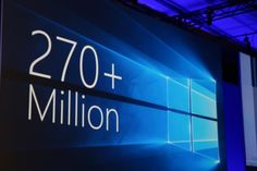 Microsoft: Windows 10 now runs on 270M monthly active devices http://ift.tt/1UCxFOJ  Following from the unmitigated disaster that was Windows 8 Windows 10 has been doing rather well for Microsoft. After announcing that its flagship operating system ran on 200 million monthly active devices in January the company today used its Build keynote to announce that this number is now up to 270 million monthly active devices. Read More Source : Microsoft: Windows 10 now runs on 270M monthly active…
