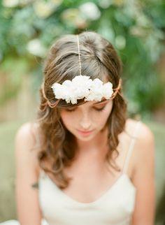 Delicate bridal head