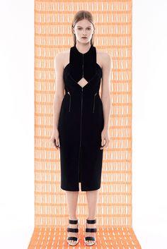 Dion Lee | Resort 2015 | 18 Black cut out halter midi dress with front slit
