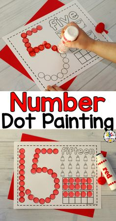 Are you looking for no-prep, dab it worksheets can be used as a quick and easy literacy center or as an independent activity for early finishers? These Number Dot Painting Worksheets are a fun way for children to practice identifying and counting numbers. Click on the picture to learn more about this Bingo dauber activity. Teaching Numbers, Numbers Preschool, Preschool Lessons, Preschool Learning, Kindergarten Math, Preschool Crafts, Pre K Activities, Classroom Activities, Number Activities