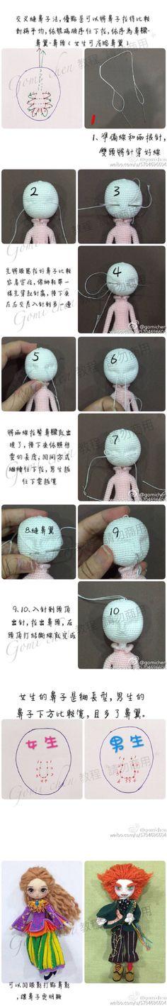 Facciones de muñeca