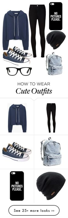 """Casual yet cute outfit for fall."" by liyaalston on Polyvore featuring MANGO, AG Adriano Goldschmied, Converse, Casetify and Coal"