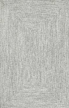 Braided Lefebvre Rug in Salt & Pepper design by NuLoom