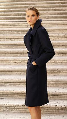 Our wool coat is made with heavyweight, eco-friendly Italian wool. It's made specifically for cold weather, without compromising on the sleek silhouette and considered details.