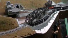 N scale train layout.