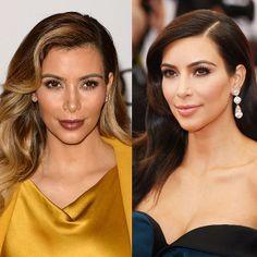 Before + after: Kim Kardashian's hair colour