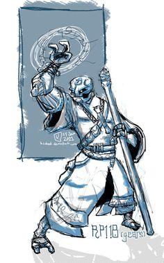 Warforged Wizard by mkhoddy on DeviantArt Fantasy Races, Fantasy Rpg, Fantasy World, Character Concept, Character Art, Concept Art, Character Design, The Elder Scrolls, D D Characters