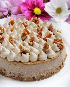 Rumos-gesztenyés sajttorta | Ízből tíz Hungarian Recipes, Dessert Table, Cake Cookies, Camembert Cheese, Food To Make, Bakery, Cheesecake, Food And Drink, Bar Cart