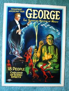 George Magic Poster Original c1924 Buddha 20 x 26 inches Great Condition | eBay