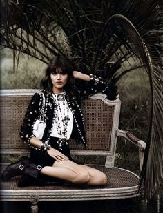 Chanel Spring/Summer 2011 Ad Campaign, Models: Freja Beha and Baptiste Giabiconi, Photography: Karl Lagerfeld