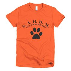 SAHDM - STAY AT HOME DOG MOM Short sleeve women's t-shirt