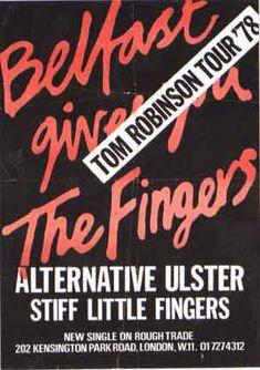 'Stiff Little Fingers Poster' Painting East Urban Home Size: 80 cm H x cm W x cm D, Format: Wrapped Canvas