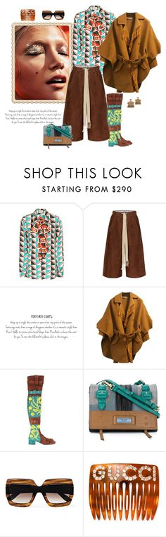 """""""Close your eyes, count to ten"""" by juliabachmann ❤ liked on Polyvore featuring Gucci, Loewe, Ermanno Scervino, Prada and Jay Strongwater"""
