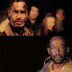 """The Walking Dead 5x16 """"Conquer"""" Rick Grimes and Morgan Jones"""